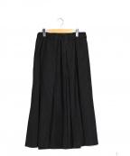 HOMME PLISSE ISSEY MIYAKE(オムプリッセイッセイミヤケ)の古着「プリーツ袴パンツ」 ブラック