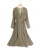 GARAGE OF GOOD CLOTHING(ガレージオブグッドクロージング)の古着「カシュクールガウンワンピース」|カーキ