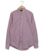 RALPH LAUREN(ラルフローレン)の古着「ストライプシャツ」 パープル×ホワイト