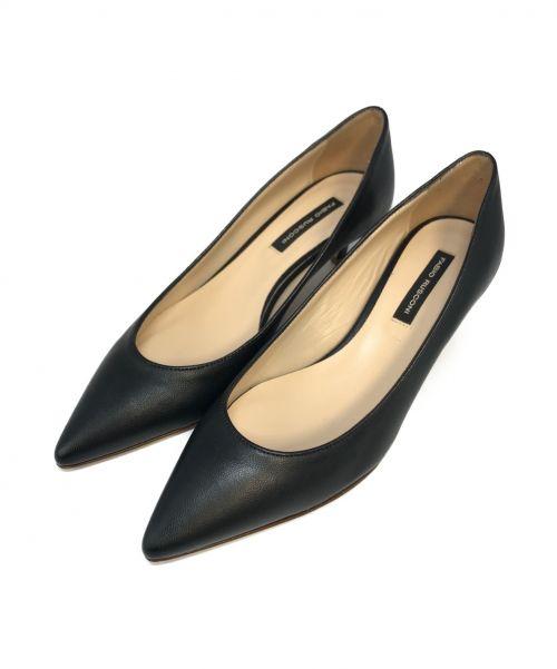FABIO RUSCONI(ファビオルスコーニ)FABIO RUSCONI (ファビオルスコーニ) ヒールパンプス ブラック サイズ:34の古着・服飾アイテム