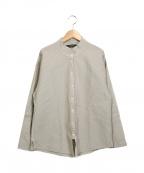 YACCO MARICARD(ヤッコマリカルド)の古着「ピンタックスタンドカラーシャツ」|グレー