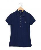 POLO RALPH LAUREN(ポロ・ラルフローレン)の古着「ロゴ刺繍ポロシャツ」|ネイビー