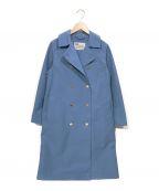 Traditional Weatherwear(トラディショナルウェザーウェア)の古着「BF BANWELL ダブルブレストコート」|ブルー