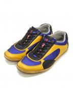 PRADA SPORTS(プラダスポーツ)の古着「ローカットスニーカー」|ブルー×イエロー