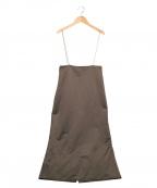 Whim Gazette(ウィムガゼット)の古着「ナイロンサテンサスペスカート」 グレー