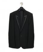 NUMBER (N)INE(ナンバーナイン)の古着「クローバーレザーエルボーパッチ1Bテーラードジャケット」 ブラック