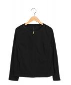 ()の古着「ナイロンノーカラージャケット」 ブラック
