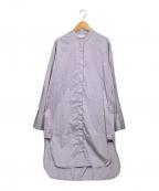 TODAYFUL(トゥデイフル)の古着「Standcollar Shirts Dress」 アイスブルー3