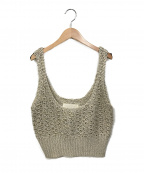 TODAYFUL(トゥデイフル)の古着「Linen Knit Bustier」 ベージュ