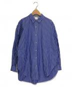 IENA(イエナ)の古着「パールボタンオーバーシャツ」|ネイビー