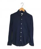 finamore(フィナモレ)の古着「ジャージーシャツ」 ネイビー