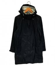 L.L.Bean (エルエルビーン) シェルロングコート ブラック サイズ:S ナイロンジャケットコート