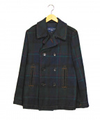 COMME des GARCONS HOMME(コムデギャルソン オム)の古着「ウールチェックPコート」 ネイビー
