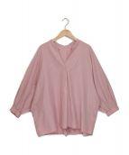 ()の古着「スキッパーボリュームブラウス」|ピンク