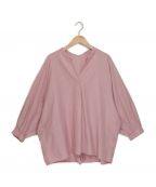 stola.()の古着「スキッパーボリュームブラウス」|ピンク