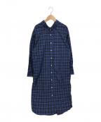 Gymphlex(ジムフレックス)の古着「オーバーサイズシャツワンピース」 ブルー