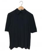 THE ATTICO(ジ アティコ)の古着「パデッドショルダコットンポロシャツ」|ブラック