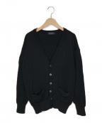 Yves Saint Laurent()の古着「ロゴニットカーディガン」|ブラック