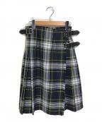 O'NEIL OF DUBLIN(オニールオブダブリン)の古着「タータンチェックキルトスカート」 グリーン