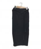 tricot COMME des GARCONS(トリココムデギャルソン)の古着「バックギャザースカート」 ブラック