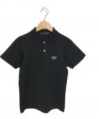 COMME des GARCONS COMME des GARCONS(コムデギャルソン コムデギャルソン)の古着「ロゴ刺繍ポロシャツ」|ブラック