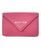 BALENCIAGA(バレンシアガ)の古着「PAPIER MINI WALLET」|ピンク