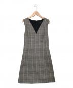 theory(セオリー)の古着「Easy V Neck Shift Dress」|グレー