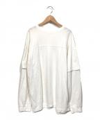 TODAYFUL(トゥデイフル)の古着「Cotton Layered Longtshirts」 ホワイト