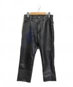 Wrangler(ラングラー)の古着「コーティングデニムパンツ」 ブラック