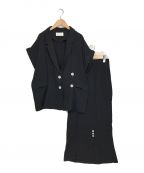 willfully(ウィルフリー)の古着「double gaze tailored jk/sk SET」|ブラック