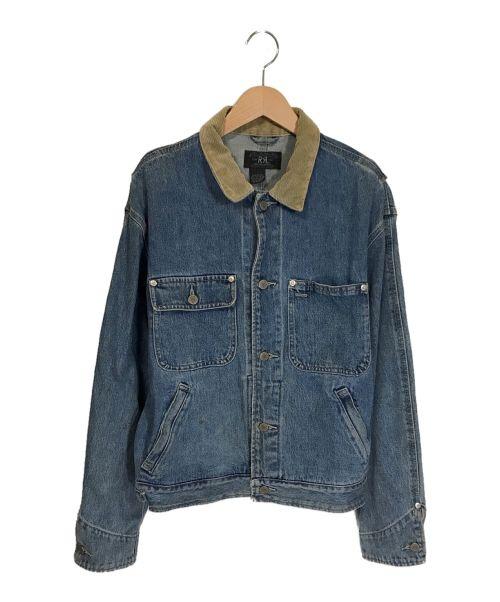 RRL(ダブルアールエル)RRL (ダブルアールエル) 襟コーデュロイデニムジャケット インディゴ サイズ:下記参照の古着・服飾アイテム
