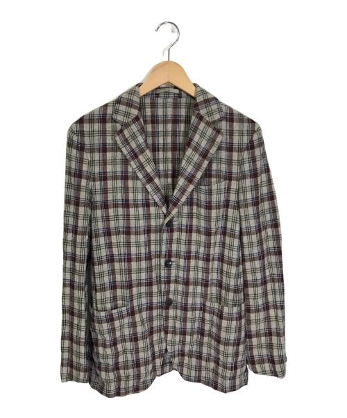 BOGLIOLI(ボリオリ)BOGLIOLI (ボリオリ) 3Bジャケット レッド×グレー サイズ:46の古着・服飾アイテム