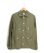 POST O'ALLS(ポストオーバーオールズ)の古着「BDU-R - Cotton Broadcloth」 カーキ