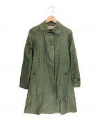 MACKINTOSH(マッキントッシュ)の古着「リネンステンカラーコート」 グリーン