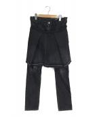 ()の古着「ボンテージブラックデニムパンツ」|ブラック