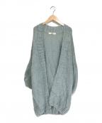 furfur(ファーファー)の古着「手編みモヘアカーディガン」|グリーン