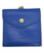 IL BISONTE(イルビゾンテ)の古着「がま口二つ折り財布」|ネイビー