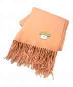 bel cashmere(ベルカシミヤ)の古着「カシミヤ大判ストール」|オレンジ