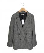 Loungedress(ラウンジドレス)の古着「グレンチェックジャケット」|グレー