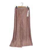 ()の古着「プリーツワイドパンツ」|ピンク