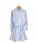 POLO RALPH LAUREN()の古着「シャツワンピース」|ブルー