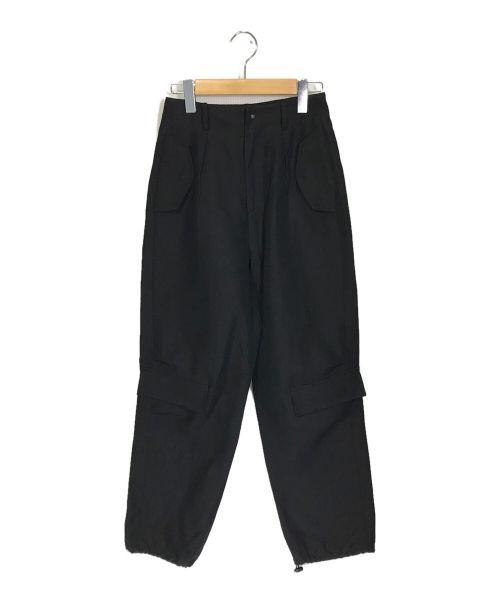 cepie.(セピエ)cepie. (セピエ) リネンミックスドロストパンツ ブラック サイズ:36の古着・服飾アイテム