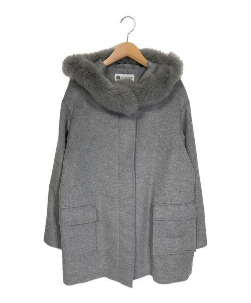 MONCADA(モンカーダ)MONCADA (モンカーダ) ファーカシミアブレンドコート グレー サイズ:Lの古着・服飾アイテム