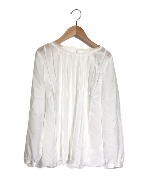 LOUNIE(ルーニィ)LOUNIE (ルーニィ) プリーツブラウス ホワイト サイズ:38の古着・服飾アイテム