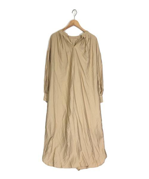 LOUNIE(ルーニィ)LOUNIE (ルーニィ) ブラウスワンピース ベージュ サイズ:40の古着・服飾アイテム
