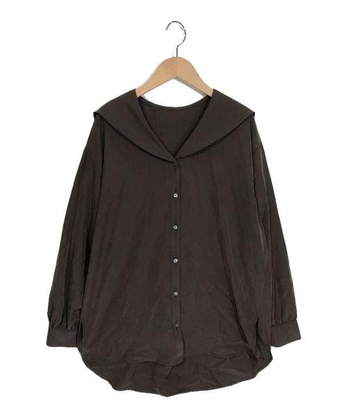 stola.(ストラ)stola. (ストラ) セーラーカラーブラウス ブラウン サイズ:40の古着・服飾アイテム