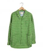 GUCCI()の古着「チェックシャツジャケット」|グリーン