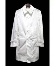 EDIFICE(エディフィス)の古着「LIMONTAナイロンステンカラーコート」 ホワイト