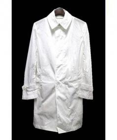 EDIFICE(エディフィス)の古着「LIMONTAナイロンステンカラーコート」|ホワイト