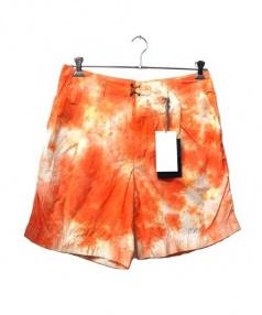 KOLOR(カラー)の古着「タイダイハーフパンツ」|オレンジ
